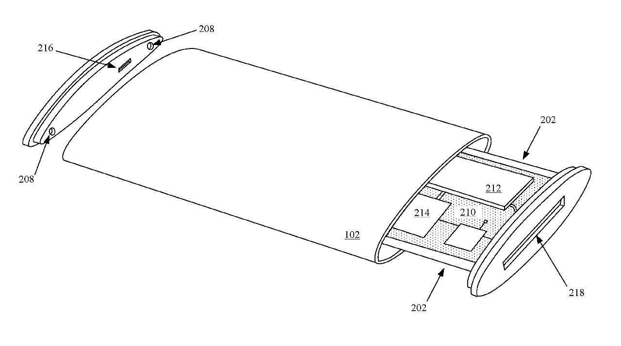 The patent also describes methods of manufacturing the wraparound display