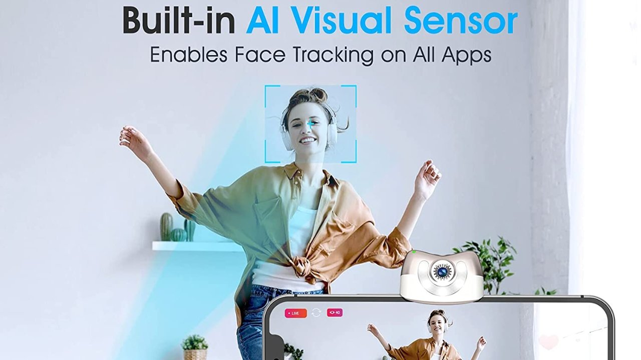 Save $19.50 on a Gimbal Stabilizer for Smartphone w/ AI Tracking Sensor