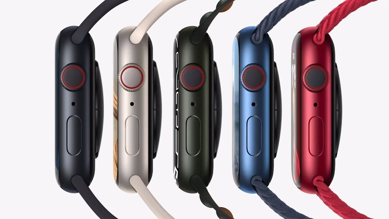 As usual, you can get the Apple Watch Series 7 in a variety of colors.