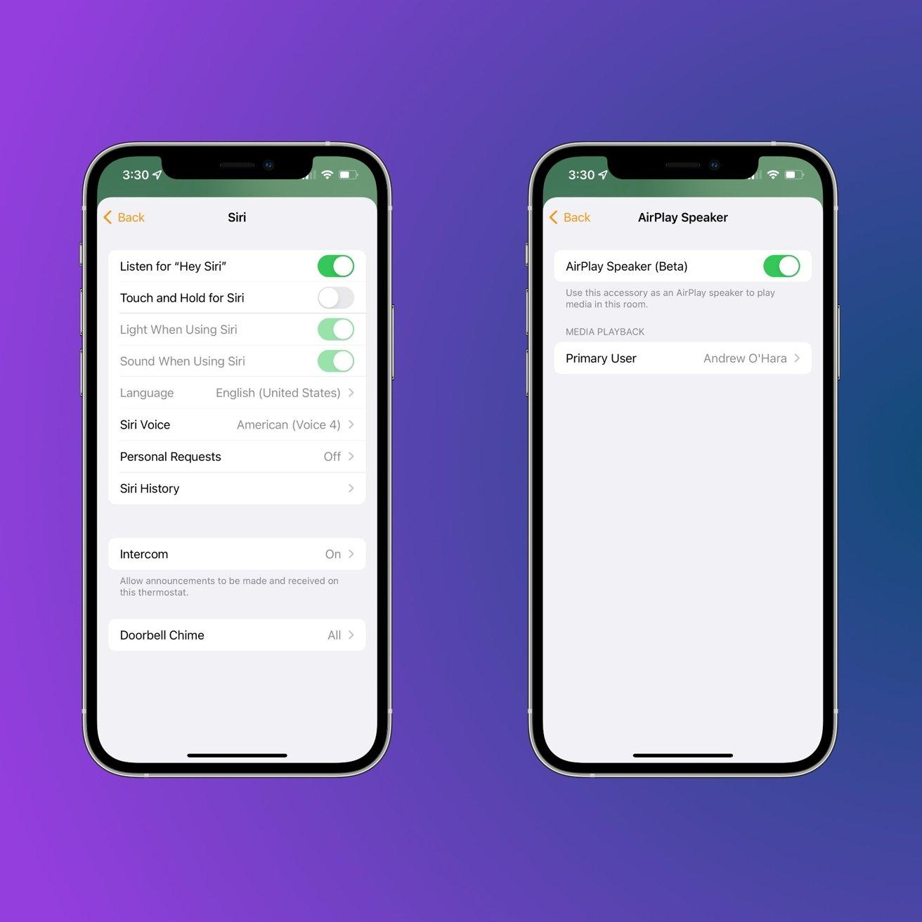 Ecobee SmartThermostat settings