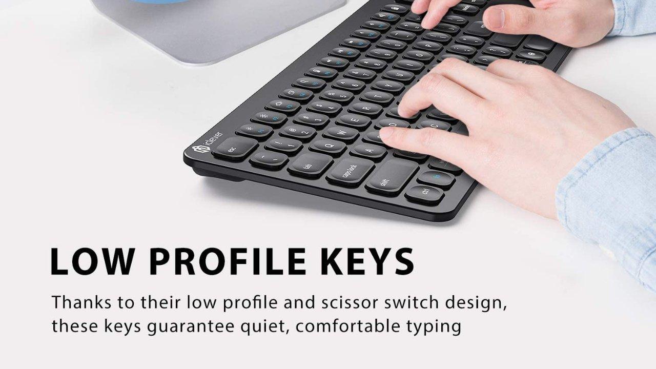 Save 55% on iClever BKA38B Bluetooth Keyboard
