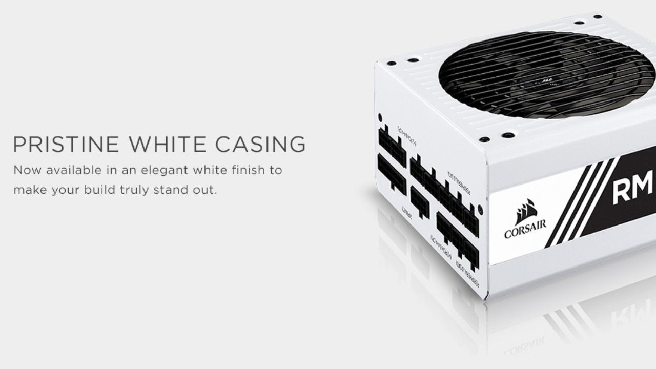 $44 off Corsair RMX White Series (2018)
