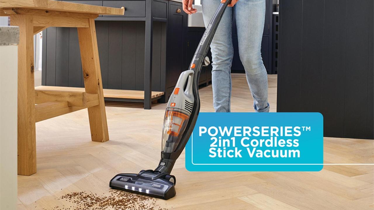 $50 off Black + Decker Powerseries Cordless Stick Vacuum Cleaner & Hand Vac