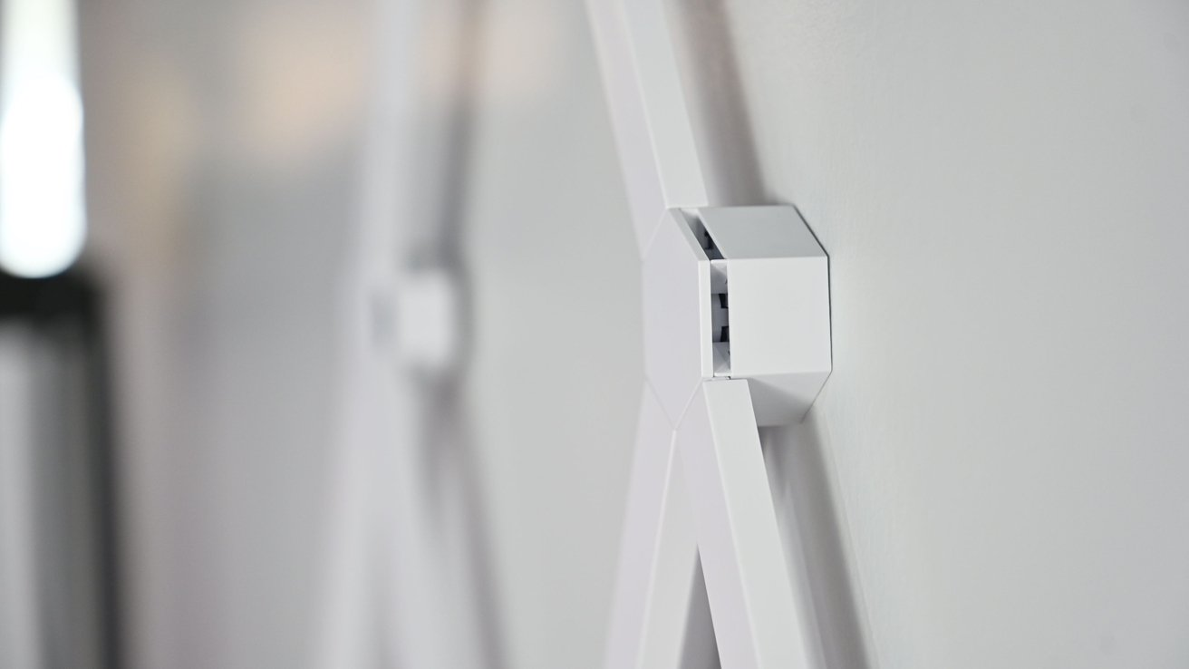 Nanoleaf Lines sit just away from the wall
