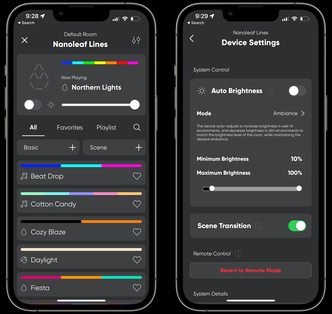 Viewing Nanoleaf Lines in the Nanoleaf app