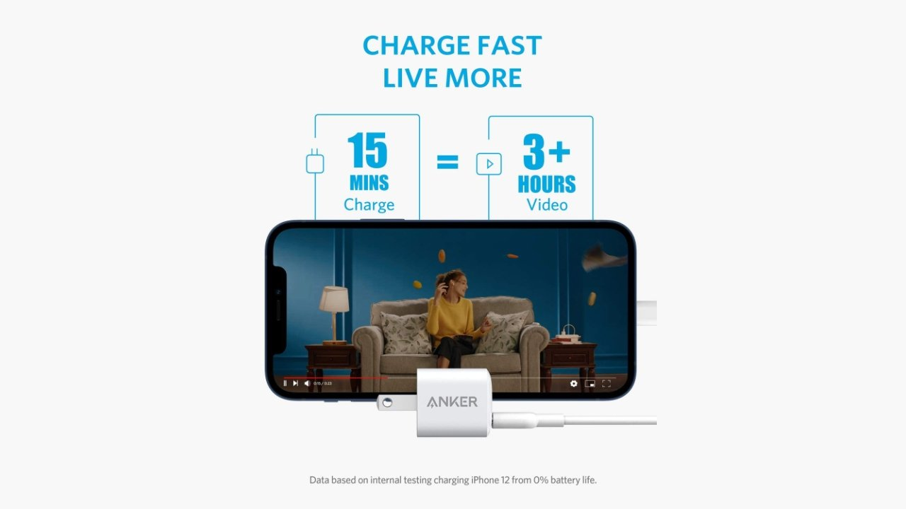 Save almost $5 on Anker 18W USB-C Nano Wall Charger Adapter PIQ 3.0 PD Fast Charging