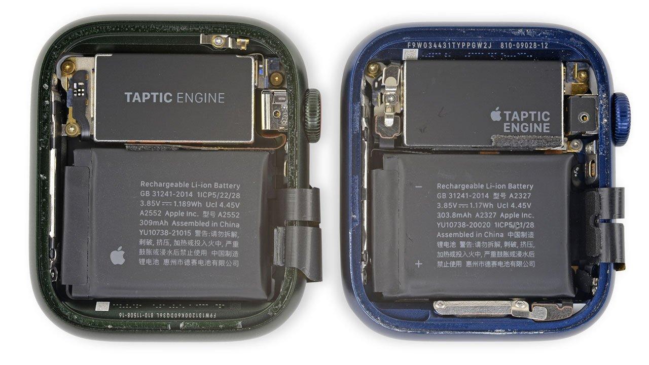 Apple Watch Series 7 Teardown Battery Comparison