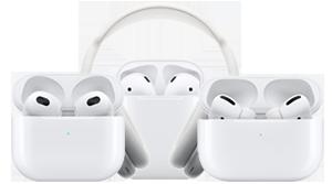 Apple AirPods 2, AirPods 3, AirPods Pro and AirPods Max