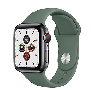 Apple Watch Series 5 with Green Band