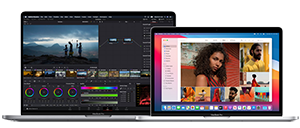 16-inch and 13-inch MacBook Pro side by side