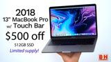 Killer deals: 13-inch MacBook Pro (256GB) $1,399; 512GB model $1,499