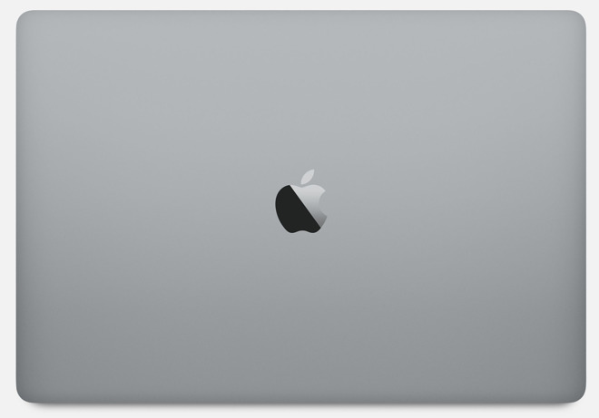 Apple 15 inch MacBook Pro lid in Space Gray
